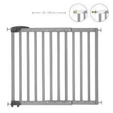 Badabulle Deco Pop Grise Barriere de Sécurité Extensible Fixation Pression & Vis (63,5 - 106cm)