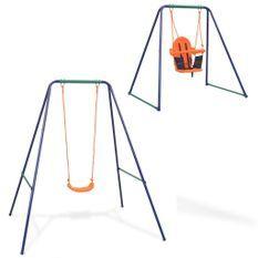 Balançoire simple 2-en-1 et balançoire pour tout-petits Orange