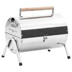 Barbecue au charbon portable Acier inoxydable Grilles doubles