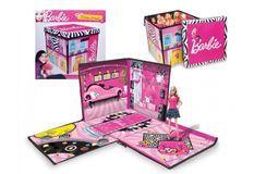 Barbie zipbin boîte de jeu et de rangement