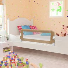 Barrière de lit enfant Taupe 102x42 cm Polyester