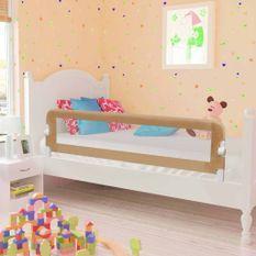 Barrière de lit enfant Taupe 150x42 cm Polyester