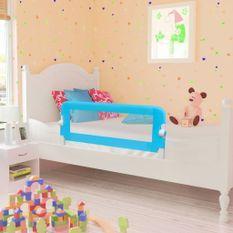 Barrière de lit pour enfants 102 x 42 cm Bleu
