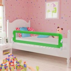 Barrière de lit pour enfants 150 x 42 cm Vert