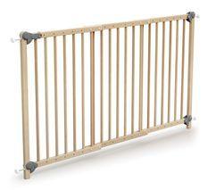 Barrière de sécurité bébé extensible hêtre verni Webaby 73/152 cm