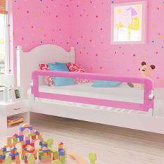 Barrière de sécurité de lit enfant Rose 180x42 cm Polyester
