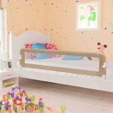 Barrière de sécurité de lit enfant Taupe 180 x 42 cm Polyester