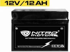 Batterie électrique plomb acide 12V/12AH Nitro