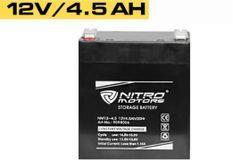Batterie électrique plomb acide 12V/4.5AH Nitro