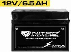Batterie électrique plomb acide 12V/6.5AH Nitro
