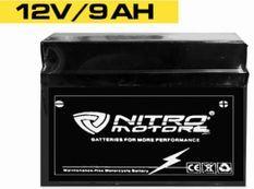 Batterie électrique plomb acide 12V/9AH Nitro