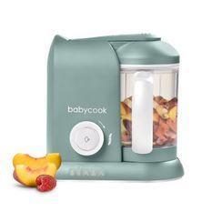 BEABA, Babycook Solo, Robot bébé 4 en 1, Cuiseur, Mixeur - Eucalyptus