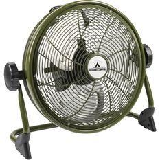 BESTRON Brasseur - Panier 35cm - rechargeable - en couleur ''Outdoor green'' - Débit d'air 38,42m³/min. - Vitesse de l'air 3,35m/sec