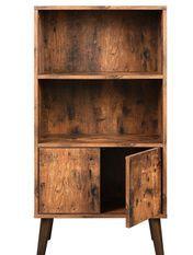 Bibliothèque 2 compartiments marron vintage style industriel Kaza 60 cm