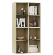 Bibliothèque chêne clair Athena 66 cm