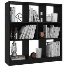 Bibliothèque Noir 97,5 x 29,5 x 100 cm Aggloméré