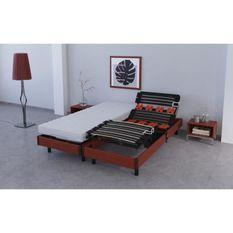 BILBAO Ensemble relaxation matelas + sommiers électriques 2 x 80 x 200 cm - Mousse - 18 cm - Equilibré