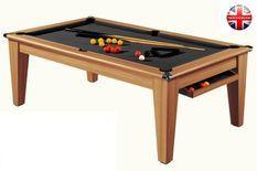 Billard Pool York 7ft châtaignier tapis noir
