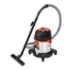 BLACK & DECKER Aspirateur eau et poussiere 1400 W cuve 20 L en inox avec prise pour outil électroportatif