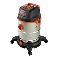 BLACK & DECKER Aspirateur eau et poussiere 1600 W cuve 30 L en inox avec prise pour outil électroportatif