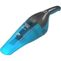 BLACK+DECKER WDC215WA-QW- Aspirateur a main - Dustbuster Lithium Eau et poussiere 7,2V - Indicateur LED - Bleu
