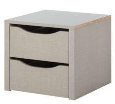 Bloc 2 tiroirs intérieur de 45 cm pour armoire