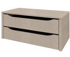 Bloc de 2 tiroirs intérieur de 90 cm pour armoire