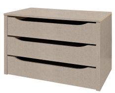 Bloc de 3 tiroirs intérieur de 90 cm pour armoire