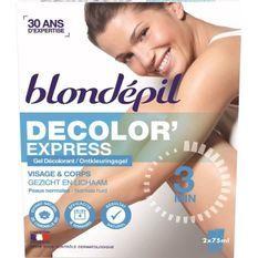 BLONDEPIL Gel décolorant Decolor'express - Pour corps et visage - 2 x 75 ml