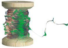 Bobine guirlande argentée 60 LED vertes
