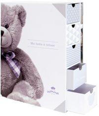 Boîte à trésors livre naissance My little bear