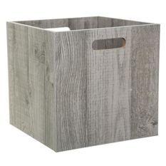 Boîte de rangement 31x31 cm - Bois gris