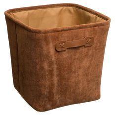 Boîte de rangement 31x31 cm - Velours cotelé