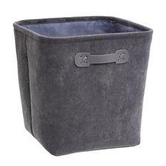 Boîte de rangement 31x31 cm - Velours Gris