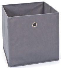 Boîte de rangement pliable tissu gris Peggy