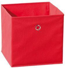 Boîte de rangement pliable tissu rouge Peggy