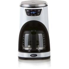 BORETTI B412 Cafetiere programmable - 1000W - 1,5 L : 12 tasses - Blanc