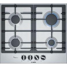 BOSCH - PCP6A5B90 - Table de cuisson a gaz - 4 zone - 7500W - 60 cm - Acier Inox