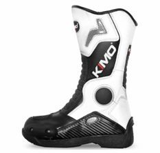 Bottes enfant moto cross Kimo Racing blanc