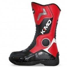 Bottes enfant moto cross Kimo Racing rouge
