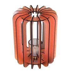 Bougeoir cylindrique métal cuivré T-light