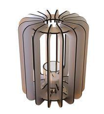Bougeoir cylindrique métal gris T-light