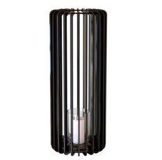 Bougeoir cylindrique métal noir Personello