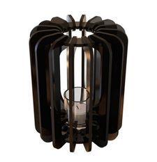 Bougeoir cylindrique métal noir T-light