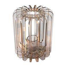 Bougeoir cylindrique plexiglas transparent T-light