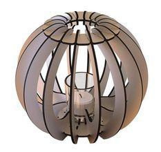 Bougeoir métal gris T-light Sphère