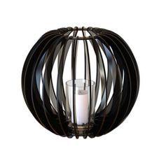 Bougeoir métal noir Sfera 40