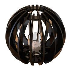 Bougeoir métal noir T-light Sphère