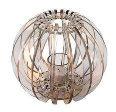 Bougeoir plexiglas transparent T-light Sphère
