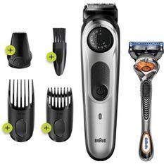 Braun BT5260 Tondeuse barbe et cheveux pour homme - 39 longueurs - 100min de tonte sans fil - 1h de charge - Noir/Argent métallisé